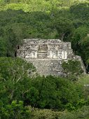 Ancient Temple At Calakmul