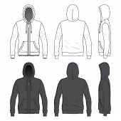 picture of hooded sweatshirt  - Blank Men - JPG