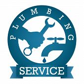 image of plumbing  - symbol plumbing service for vector - JPG