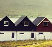 stock photo of faro  - Village on Faroe islands - JPG