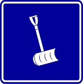 snow shovel sign