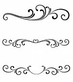 stock photo of flourish  - Vector scroll page ornaments for page dividers or line rules or logo flourishes - JPG