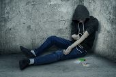 stock photo of heroin  - Bad guy  - JPG
