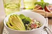 stock photo of tabouleh  - Couscous with vegetables - JPG