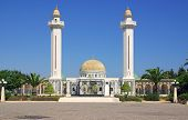 pic of mausoleum  - Mausoleum of Bourguiba in Tunisia in Africa in summer day - JPG