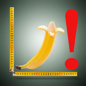 picture of kamasutra  - Large banana and measuring tape as image of man - JPG