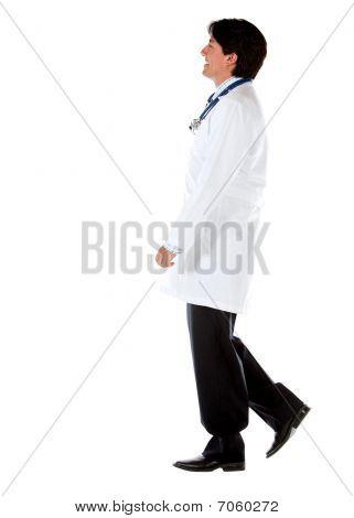 Male Doctor Walking