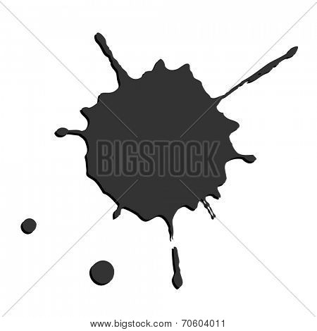 Black smudges on white paper.  Vector.