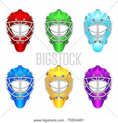 Goalie helmets