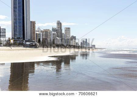 Gold Coast Surfers Paradise beach and cityscape