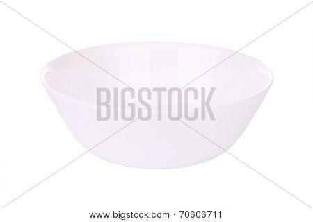 Single round ceramic bowl on white background.