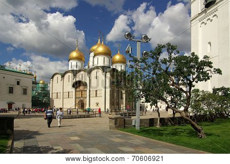 The Cathedral Of The Dormition In The Moscow Kremlin