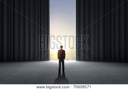 Businessman Standing In Room