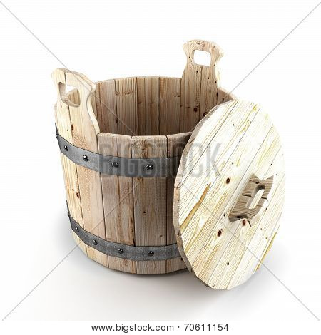 Wooden Bucket For A Bath