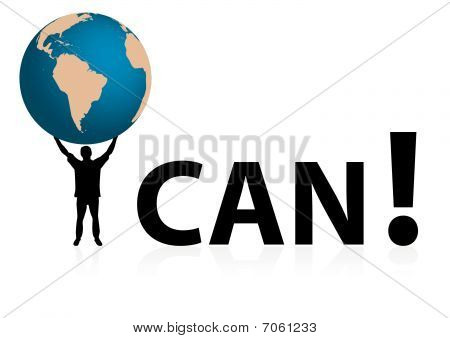 "Conceptual ""I CAN"" illustration"