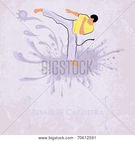 Capoeira Pisao. Vector Illustration