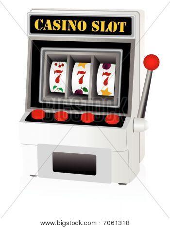 Illustration of a detailed slot machine