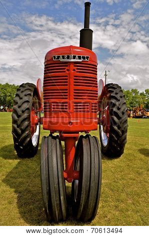 Front of a restored Farmall H Tractor