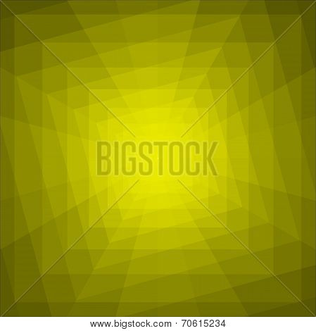 Abstract Yellow Geometric Tunnel Background.