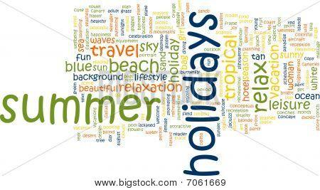 Summer Holidays Word Cloud