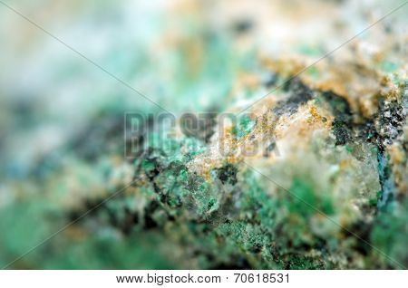 Abstract Fantastic Background From A Crystal Mineral, Magic Of A Stone