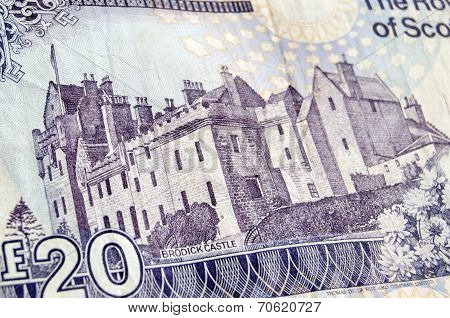 Brodick Castle on Banknote