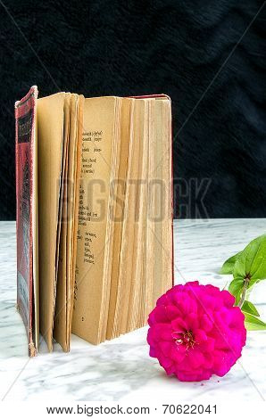 Old Book With Red Binding