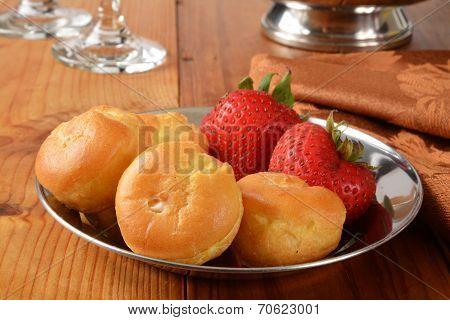 Cream Puffs And Strawberries