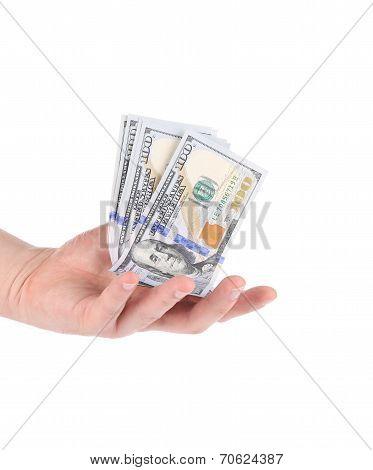 Heap of hundred dollar bills.
