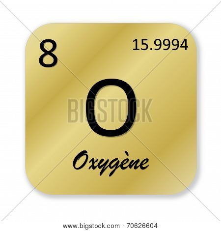 Oxygen element, french oxygene