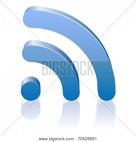 Wifi icon for radio waves. Vector illustration.