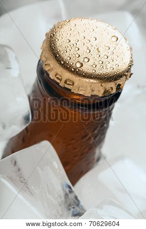 Bottle with soft drinks.