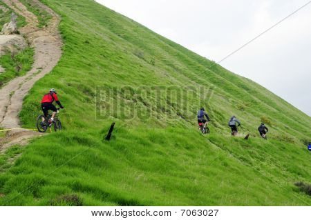 Mountain Bike Race in Rain