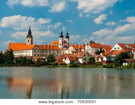 Telc is one of most beautiful towns in Southern Moravia, Highlands Region. The historical core belongs to UNESCO. Czech Republic