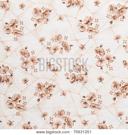Floral Pattern, Flower Background On Cloth