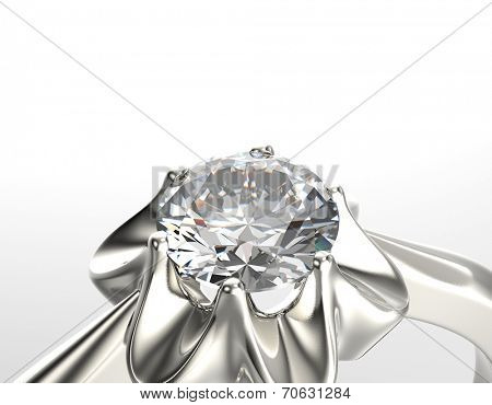 Peridot Golden Ring with Diamond. Jewelry background