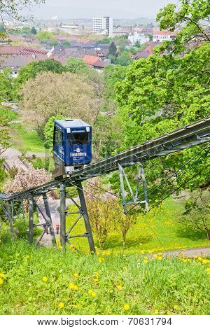 Schlossbergbahn - Funicular Railway In Freiburg Im Breisgau
