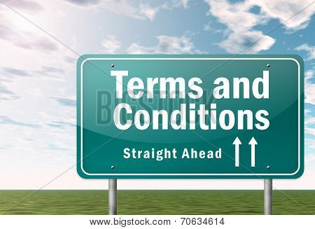 Highway Signpost Terms And Conditions