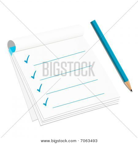 Checklist isolated on white background