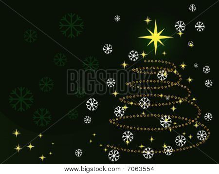 Illustration of a metaphoric green Christmas tree