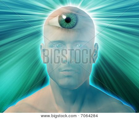 drittes Auge Mann