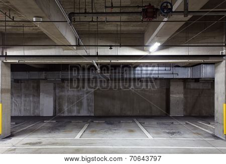 Parking garage underground