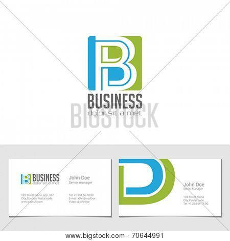Corporate Logo B Letter company vector design template. Logotype with identity business visit card.