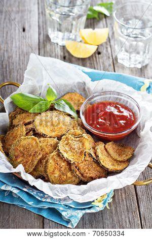Homemade zucchini chips
