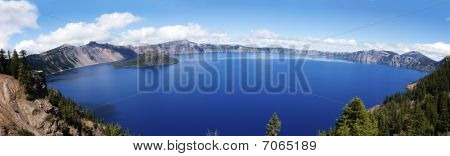 Panorma Of Crater Lake, Oregon