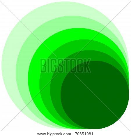 multilayer on green circle