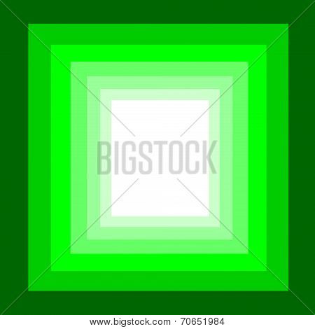 multilayer on green square