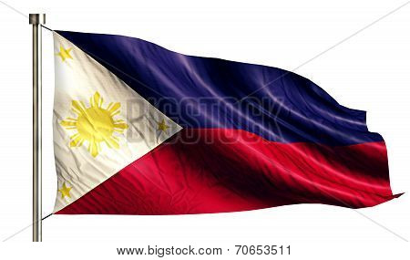 Philippines National Flag Isolated 3D White Background