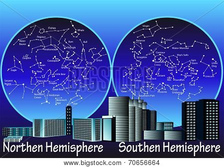 Constellations Of Hemisphere