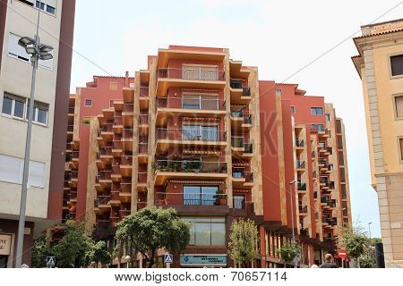 Figueres, Spain – July 17, 2013: Modern Building In Figueres, Spain